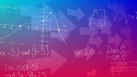 Arrows and mathematical equation Animation