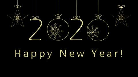 Happy New Year Text 애니메이션