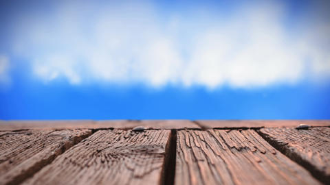 Wooden deck and sky Animation