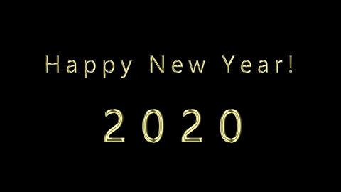 Happy New Year 2020 애니메이션