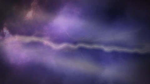Thunders in the sky with clouds Animation