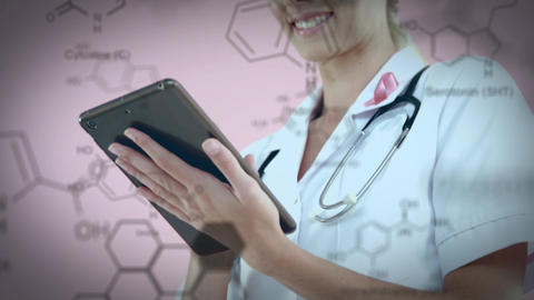 Female doctor using a tablet Animation
