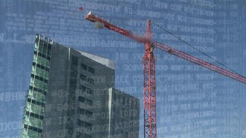 Binary codes and crane Animation