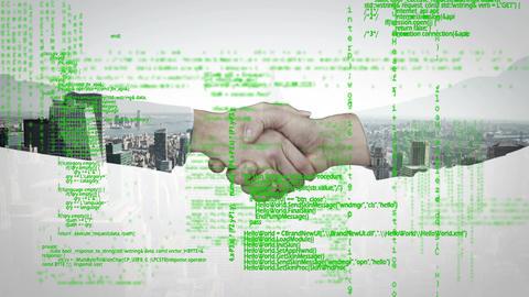 Handshake and program codes Animation