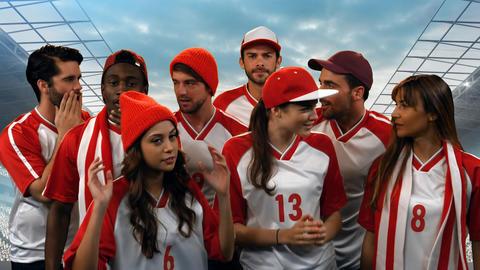 Group of athletes Animation