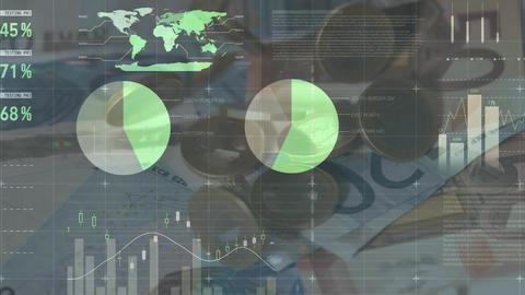 Cash, graphs and statistics Animation