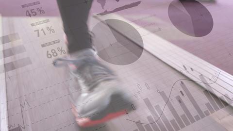 Feet running on a treadmill 4k Animation