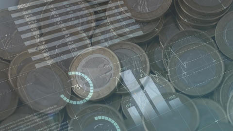 Graphs and statistics of coins Animation