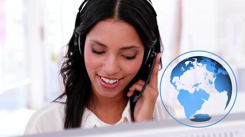 Hispanic female call centre agent Animation