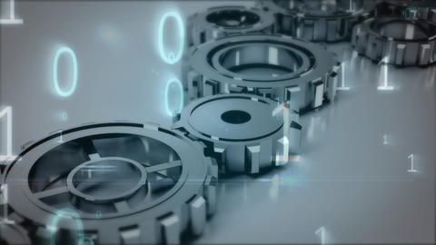 Gears and cogs fit together Animation