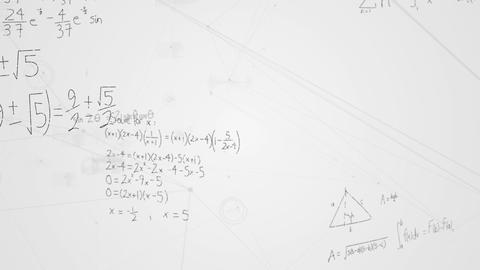 Mathematical equations and asymmetrical lines Animation