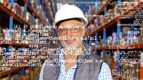 Warehouse manager smiling Animation