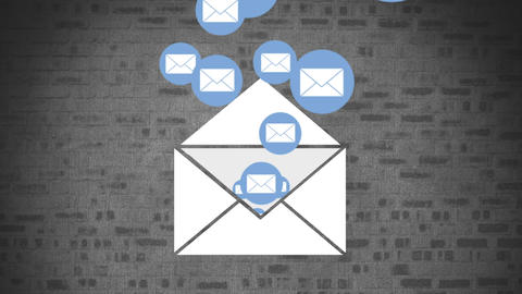 Email messages 4k Animation