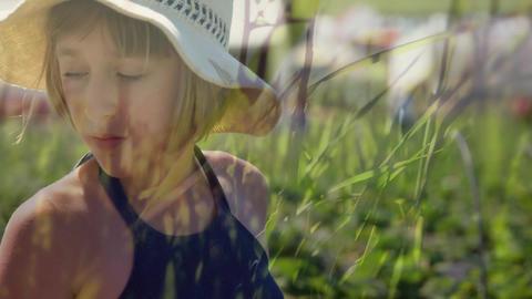 Woman at a garden Animation