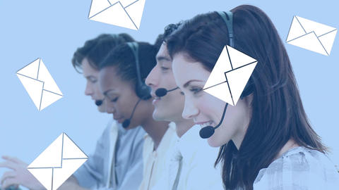 Smiling call centre agent Animation