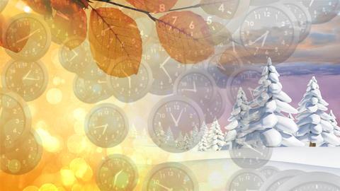 Winter and autumn seasons Animation