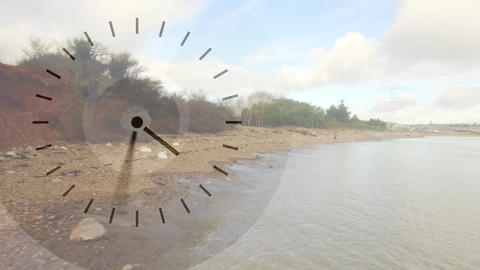 River bank with clock Animation