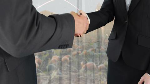 Hand shake between business people 4k Animation