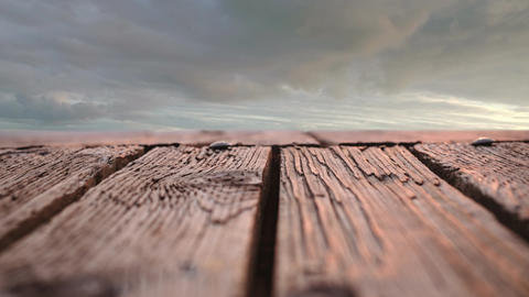 Wooden deck with a view of the sky Animation