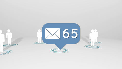 Increasing email network Animation