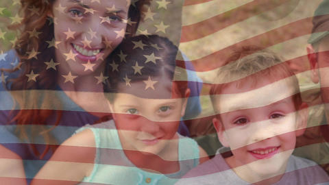 American soldier reunited with his family Animation