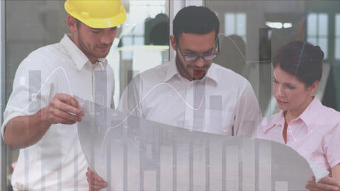 Architects discussing about the building plans 4k Animation
