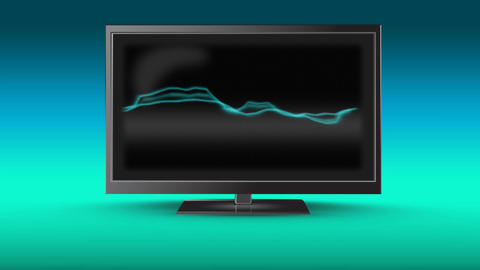 Television with electricity on its screen Animation