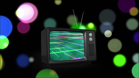 Television with beams of light Animation