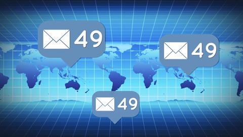 Global emails and messages Animation