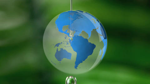 Dripping water and globe Animation