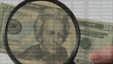 inspecting a dollar bill Animation