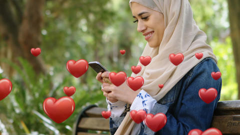 Woman in texting in love 4k Animation