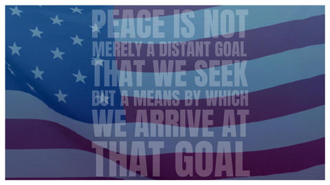 American flag and peace quote Animation