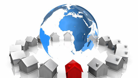 Global housing Animation