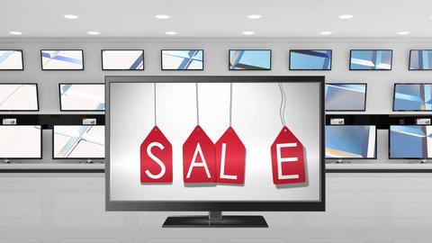 Television sale on display Animation