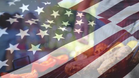 American flag day Animation