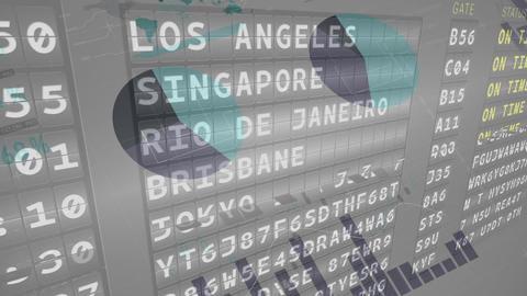 Plane departure schedules Animation