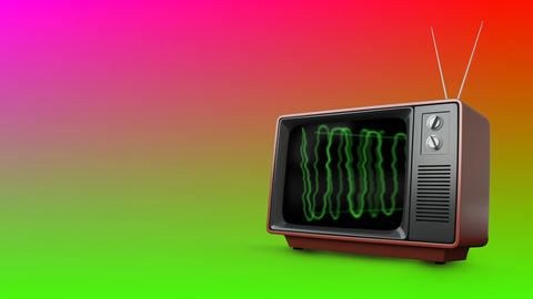 Television with green electricity Animation