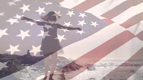 woman dancing on a beach riffraff Animation