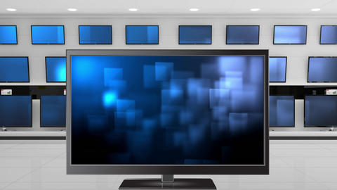 Television with glowing square effects Animation