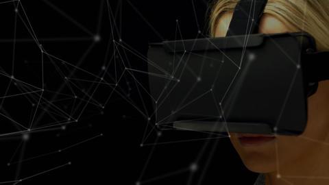 Woman wearing a virtual reality headset Animation