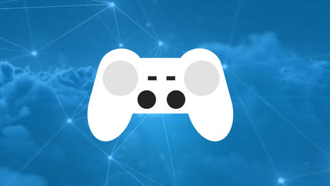 Video game controller with lines and dots Animation