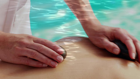 Massage using rocks Animation