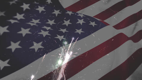 Fireworks on independence day Animation