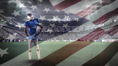 American football athlete celebrating a win Animation