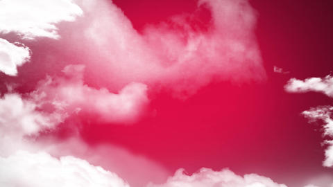 Pink lightning and clouds Animation