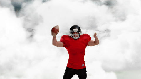 American football athlete celebrating 4k Animation