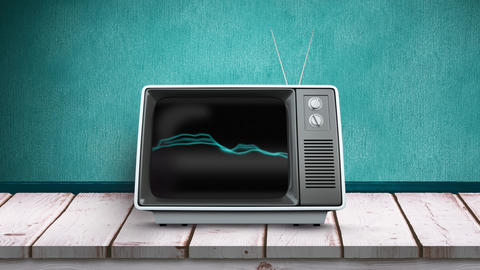 TV with static electricity on its screen Animation
