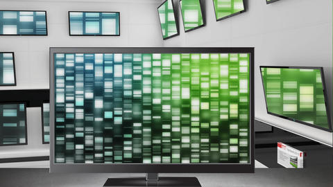 Television displayed at an electronics store Animation