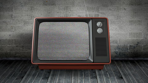 Old television with static 4k Animation